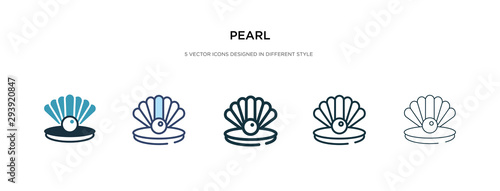 Fotomural  pearl icon in different style vector illustration