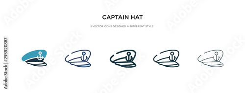 captain hat icon in different style vector illustration Tapéta, Fotótapéta
