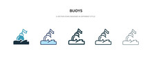 Buoys Icon In Different Style ...