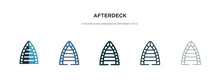 Afterdeck Icon In Different Style Vector Illustration. Two Colored And Black Afterdeck Vector Icons Designed In Filled, Outline, Line And Stroke Style Can Be Used For Web, Mobile, Ui