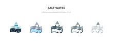 Salt Water Icon In Different S...