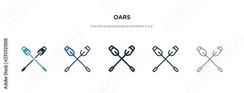 Obraz na płótnie oars icon in different style vector illustration
