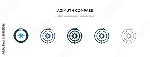 azimuth compass icon in different style vector illustration Canvas Print