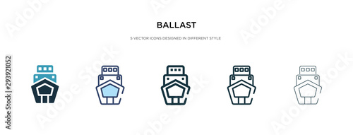 ballast icon in different style vector illustration Wallpaper Mural