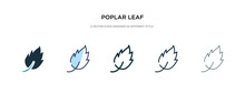 Poplar Leaf Icon In Different ...