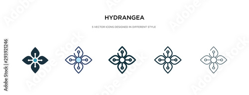 Photographie hydrangea icon in different style vector illustration