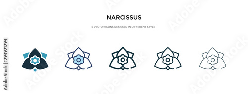 Obraz na plátně narcissus icon in different style vector illustration