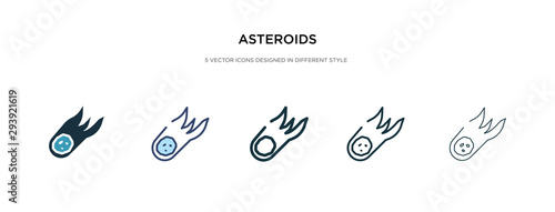 asteroids icon in different style vector illustration Canvas Print