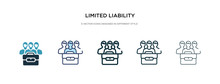 Limited Liability Icon In Diff...
