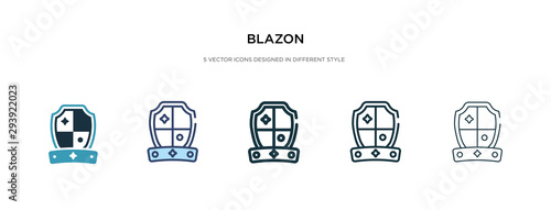 blazon icon in different style vector illustration Wallpaper Mural
