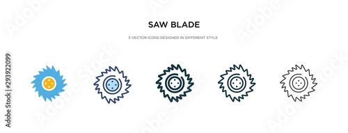 Foto saw blade icon in different style vector illustration