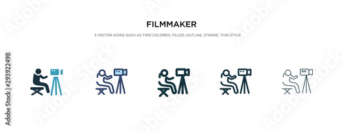Vászonkép filmmaker icon in different style vector illustration