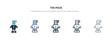 Tin Man Icon In Different Styl...