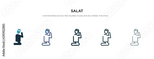 salat icon in different style vector illustration Fototapet