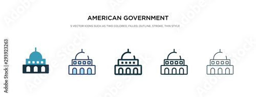 american government building icon in different style vector illustration Fototapet