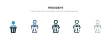 President Icon In Different St...