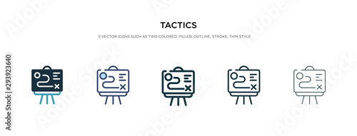 Cuadros en Lienzo tactics icon in different style vector illustration