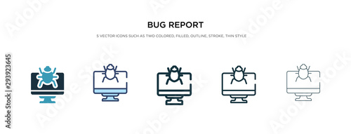 bug report icon in different style vector illustration Fototapeta