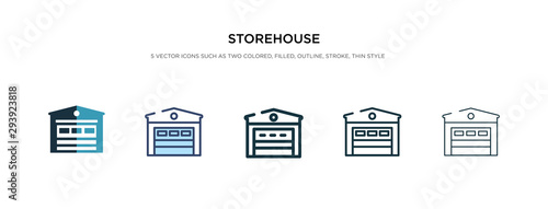 storehouse icon in different style vector illustration Canvas Print