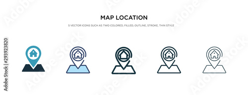 Fotomural map location icon in different style vector illustration
