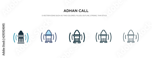 Photo adhan call icon in different style vector illustration