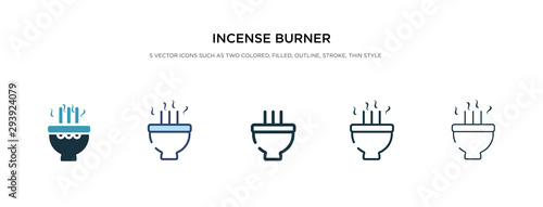 Fotografija incense burner icon in different style vector illustration
