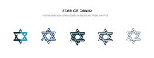 Star Of David Icon In Differen...