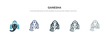 Ganesha Icon In Different Styl...