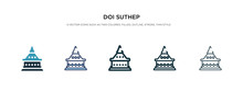 Doi Suthep Icon In Different Style Vector Illustration. Two Colored And Black Doi Suthep Vector Icons Designed In Filled, Outline, Line And Stroke Style Can Be Used For Web, Mobile, Ui