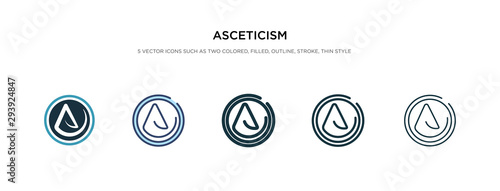 Photo asceticism icon in different style vector illustration