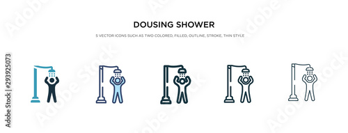 dousing shower icon in different style vector illustration Canvas Print