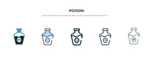 Poison Icon In Different Style...