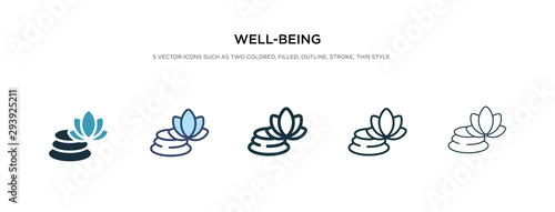 Fototapeta well-being icon in different style vector illustration. two colored and black well-being vector icons designed in filled, outline, line and stroke style can be used for web, mobile, ui obraz