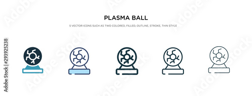 Cuadros en Lienzo plasma ball icon in different style vector illustration