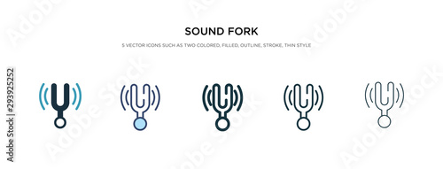 Fotografie, Obraz sound fork icon in different style vector illustration