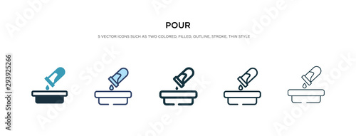 Carta da parati  pour icon in different style vector illustration
