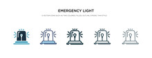Emergency Light Icon In Differ...