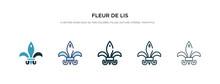 Fleur De Lis Icon In Different...