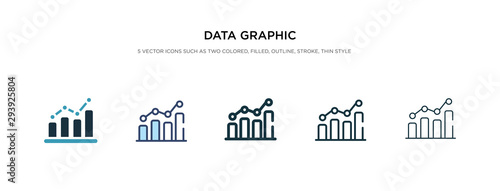 data graphic icon in different style vector illustration. two colored and black data graphic vector icons designed in filled, outline, line and stroke style can be used for web, mobile, ui