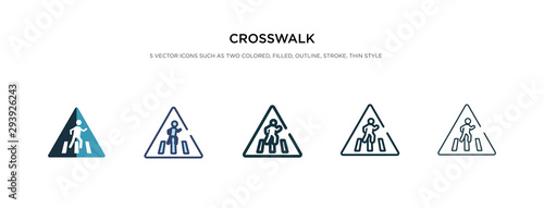 crosswalk icon in different style vector illustration Fototapet