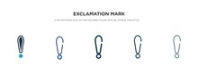 Exclamation Mark Icon In Diffe...