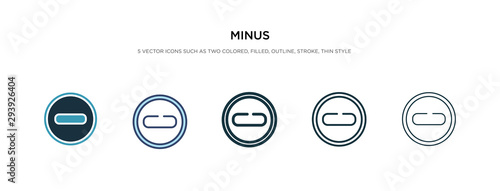 Cuadros en Lienzo  minus icon in different style vector illustration