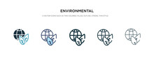 Environmental Icon In Differen...