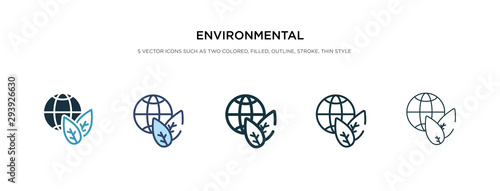Obraz environmental icon in different style vector illustration. two colored and black environmental vector icons designed in filled, outline, line and stroke style can be used for web, mobile, ui - fototapety do salonu
