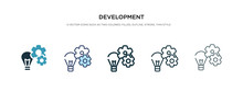 Development Icon In Different Style Vector Illustration. Two Colored And Black Development Vector Icons Designed In Filled, Outline, Line And Stroke Style Can Be Used For Web, Mobile, Ui
