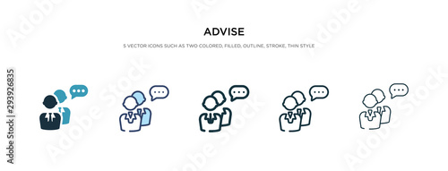 Photo advise icon in different style vector illustration