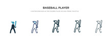 Baseball Player With Bat Icon ...