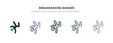 Breakdancing Dancer Icon In Di...