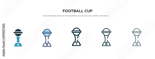 Photo football cup icon in different style vector illustration