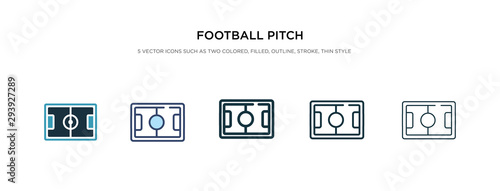 Obraz football pitch icon in different style vector illustration. two colored and black football pitch vector icons designed in filled, outline, line and stroke style can be used for web, mobile, ui - fototapety do salonu